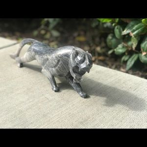 """14"""" Marble Panther/Cougar Statue"""